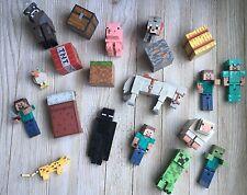 Huge Lot Of Minecraft Mojang Mattel Figures Steve Chest Tools Animals NEW