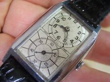 RARE & COLLECTIBLE 1930'S SWISS DUAL DIAL DOCTOR MANUAL MEN'S WATCH        *5971