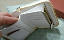 💕💕OROTON Forte Multi Pocket Zip Around Pure White Leather Wallet RRP$199.00💟