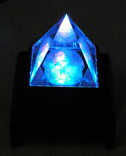 """NEW FENG SHUI PYRAMID EGYPTIAN KING TUT CRYSTAL GLASS MIRROR PRISM  ENERGY 2"""""""