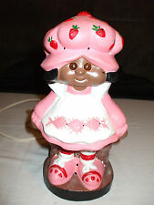 Vintage African American Strawberry Shortcake table lamp RARE plus extras
