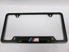 BMW Black Stainless Steel License Frame with M Logo  82120010404