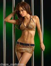 SEXY LEOPARD TIGER CHEETAH ANIMAL PRINT MINI SKIRT BEDROOM COSTUME 8 10 12