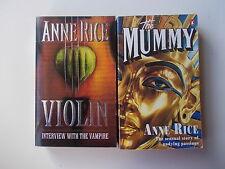 Anne Rice Violin / the mummy 2 pbs