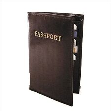 BLACK WORLD PASSPORT COVER Travel Leather Card Credit ID Holder P01 Glossy