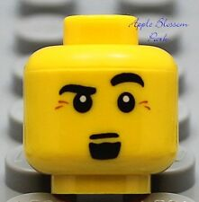 NEW Lego City MINIFIG HEAD Male Boy w/Black Goatee Beard -Pirates/Castle/Kingdom