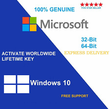 Genuine Microsoft Windows 10 Home 32/64 Bit chiave di licenza & download