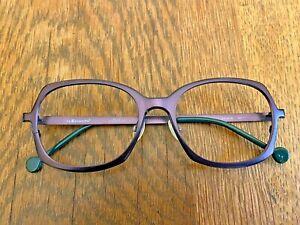 Used Retro LA Eyeworks Titanium Frames Purple/Green 'Drive In'