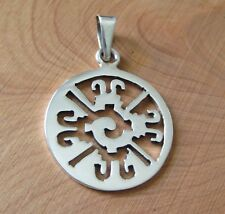 Mexican 925 Silver Taxco YING YANG Mayan  HUNAB KU  Supreme God Symbol Pendant