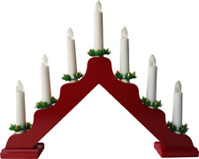 Light Arch Window Lights Swedish Candelabra Red 7 Candles 70457
