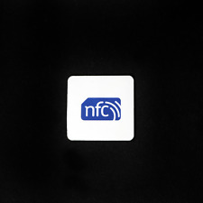 10 ZipNfc 35mm Square Logo On-Metal/Anti-Metal Nfc Tag/Stickers Ntag213 Android