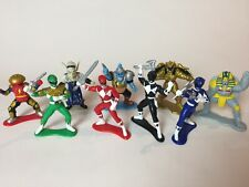 "1993 Bandai Mighty Morphin Power Rangers PVC 3"" Collectible Figures - 9 Figures"