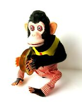 Vintage Daishin Musical Jolly Chimp 7061 in Original Distressed Box #5813