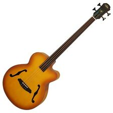NEW ARIA FEB-FL LVS FRETLESS 4 STRING ACOUSTIC BASS Soft Case Fast Shipping