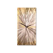 Metal Wall Clock Approachig Sun Abstract Modern Art Decor by Ash Carl