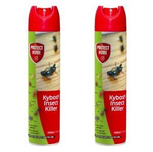2X Bayer Kybosh Insect Killer 400ml Ants Flies Mosquitoes Bedbug Spray