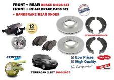 FOR HYUNDAI TERRACAN 2003-2007 FRONT + REAR BRAKE DISCS SET + PADS KIT + SHOES