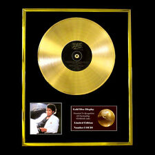 MICHAEL JACKSON THRILLER  CD  GOLD DISC VINYL LP AWARD DISPLAY FREE SHIP TO U.K.