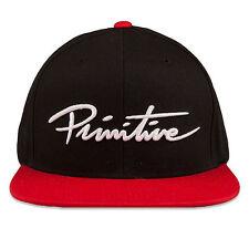 Primitive Men's Nuevo Script Snapback Hat Black Apparel Headwear