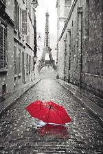 Paris Poster Eiffelturm Regenschirm