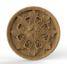 Wood Appliques Onlay Furniture Wood carved rosettes Applique furniture decor DIY