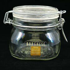 Princess Marcella Borghese Fango Mud Mask Clear Glass Jar Swing Top Flip Lid NR!