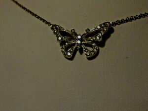 Exquisite  Authentic Tiffany & Co Platinum 950 Diamond Butterfly Necklace