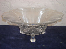 Heisey Minuet Dolphin Footed Floral Bowl