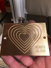 Large Hearts Solid Brass Master Engraving Plate For New Hermes Font Tray