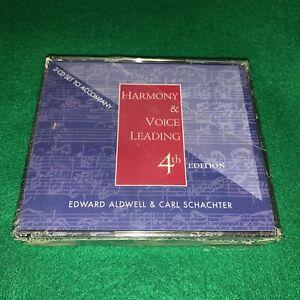 Harmony and Voice Leading 4th Edition 2 CD Set To Accompany. New Sealed.