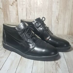 Vintage Red Wing Dunoon Chukka Black Leather Boots Size 11 EEE Style 9217 80's