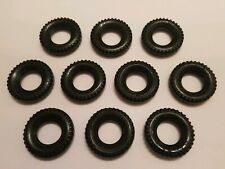 VINTAGE! 1980s Fisher Price Construx Tire Wheel Lot of 10 Black
