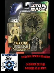 Star Wars Deluxe Hoth Rebel Soldier w/ Anti-vehicle Laser Cannon