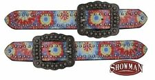 Showman LADIES Western Belt Style Spur Straps w/ TIE DYE Print! NEW HORSE TACK!