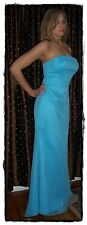 NWT NEW DA VINCI Turquoise Ocean Aqua Strapless Bridesmaid Prom Dress Gown 10