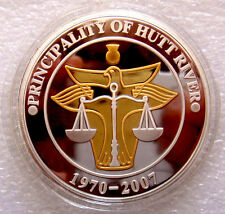 AUSTRALIA@ HUTT RIVER PROVINCE MICRONATION 2007 $30 Gold & Silver Plate CoA Case