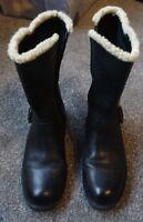 Clarks Ladies Black Leather Winter Boots Size 5D