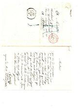 C079 - PARIS à ROUEN - 7 OCTOBRE 1837 - GRIFFE PLUME BLEUE - CACHET à DATE ROUGE