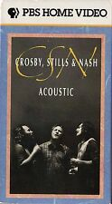 CROSBY STILL and NASH - ACOUSTIC - VHS - NTSC - Never played!! - NEW - 80-mins