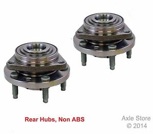 2 New Wheel Hub Bearing Assemblies RWD 5 Lug Non ABS Rear Pair with Warranty