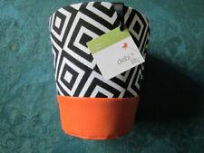 Lot of 13 Debi Lilly Floral Two Tone orange Harlequin Baskets/ Flower Pots NEW