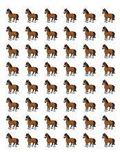 "48 FARM PONY HORSE ENVELOPE SEALS LABELS STICKERS 1.2"" ROUND"