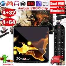 4+64G X99MAX+ Android 9.0 OS Smart TV BOX 5G WIFI BT4.1 Amlogic Media Player US