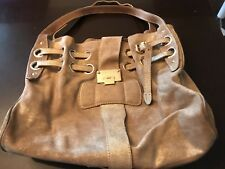 JIMMY CHOO large gold leather RIKI Shoulder Bag