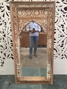 MADE TO ORDER MADE TO ORDER Mehrab Indian Carved Mirror Jharokha Wooden Arch Wal
