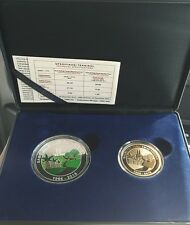 Malaysia 50th Anniversary FELCRA Colour Silver Proof Coin set of 2 No.0838 Radar