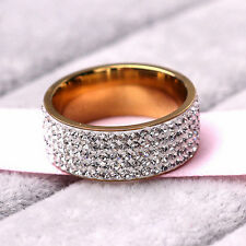 Luxury Gold Filled Crystal Ring New Fashion Fully-jewelled Party Wedding Diamond