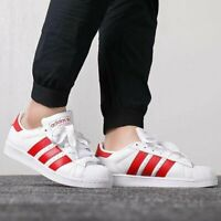 adidas Originals Superstar White Scarlet Red Men Casual Shoes Sneakers BD7370
