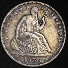 1856-O Seated Liberty Half Dollar CHOICE VF+/XF FREE SHIPPING E363 RMT