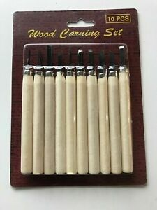 10 PCS Wood Carving Knife  Craft Hand Tools Woodcut WoodCarving